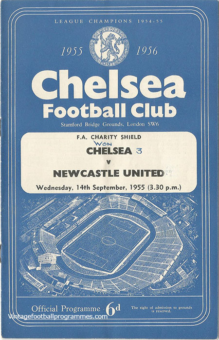 1955 F.A Charity Shield 'Chelsea vs Newcastle United'