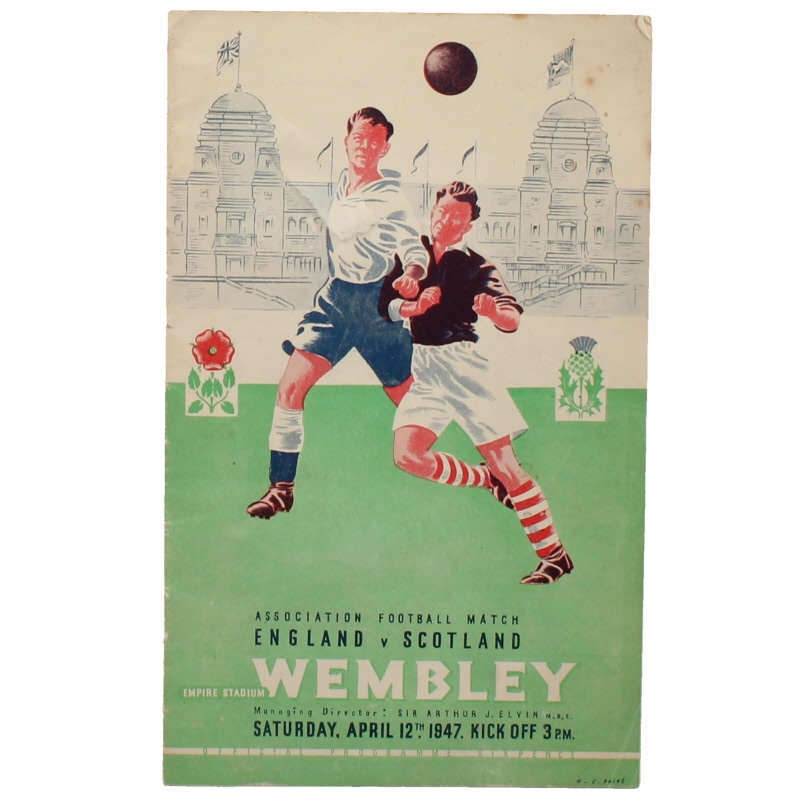 1946-47 England vs Scotland programme football programme
