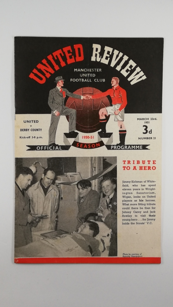 1950-51 Manchester United vs Derby County