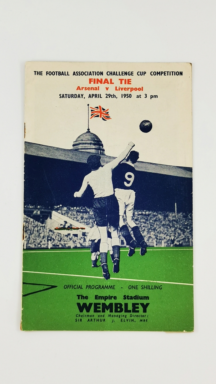 1950 F.A Cup Final Arsenal vs Liverpool programme
