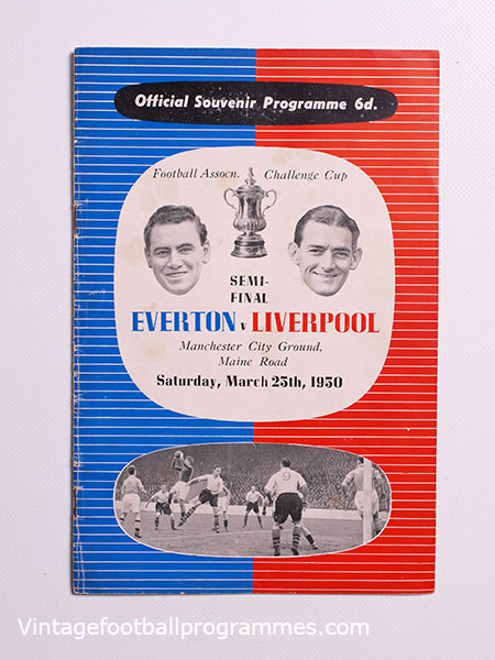 1950 F.A Cup Semi Final Everton vs Liverpool Programme
