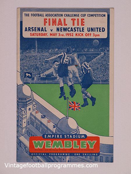 1952 F.A Cup Final Programme, Arsenal vs Newcastle United