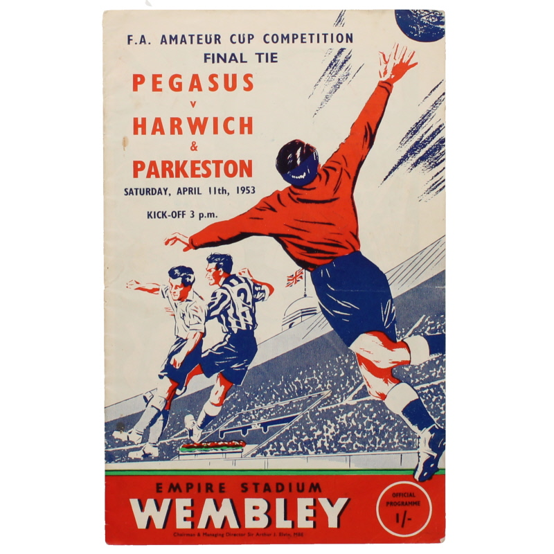 1953 Amateur Cup Final Pegasus vs Harwich & Parkeston programme football programme
