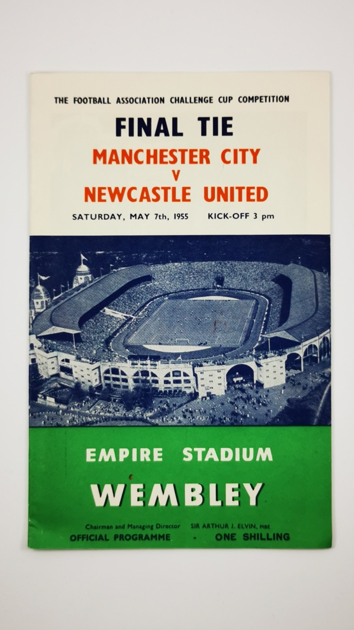 1955 F.A Cup Final Manchester City vs Newcastle United programme