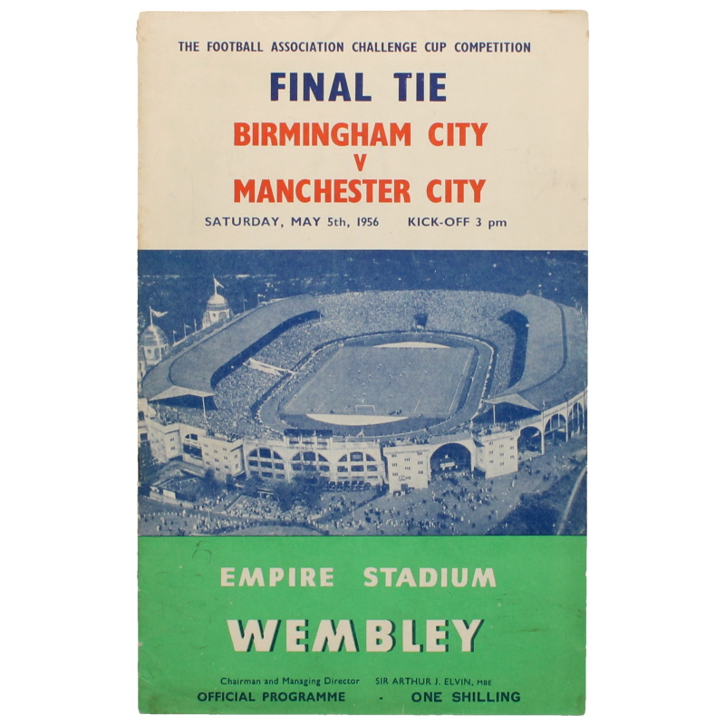 1956 F.A Cup Final Birmingham vs Manchester City programme football programme