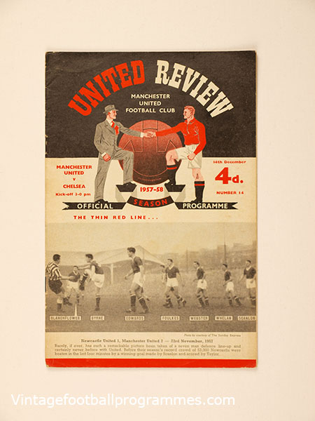 1957-58 'Manchester United vs Chelsea' Programme Munich Air Disaster Season