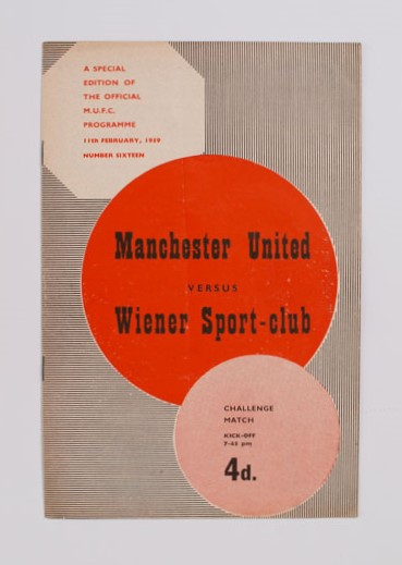 1958-59 Manchester United vs Wiener Sport-club  football programme