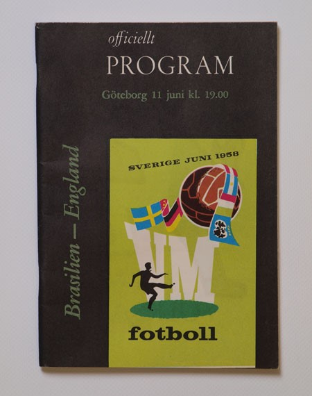 1958 World Cup Brazil vs England Programme football programme