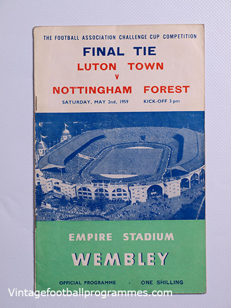 1959 F.A Cup Final 'Luton Town vs Nottingham Forest' Programme