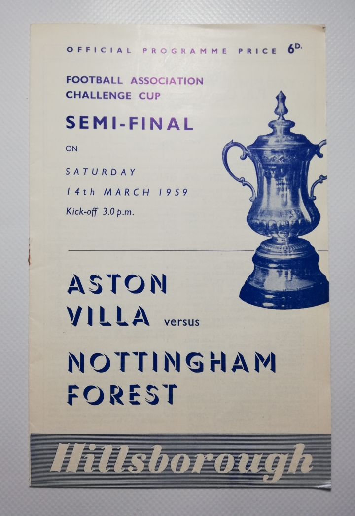 1959 F.A Cup Semi Final Aston Villa vs Nottingaham Forest