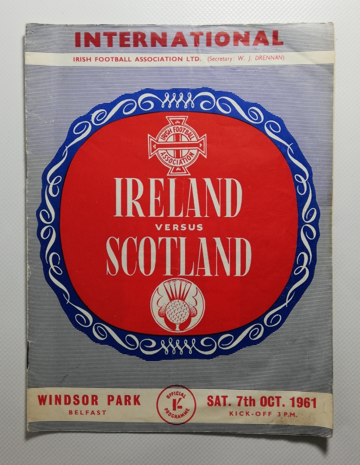1961-62 Northern Ireland vs Scotland football programme
