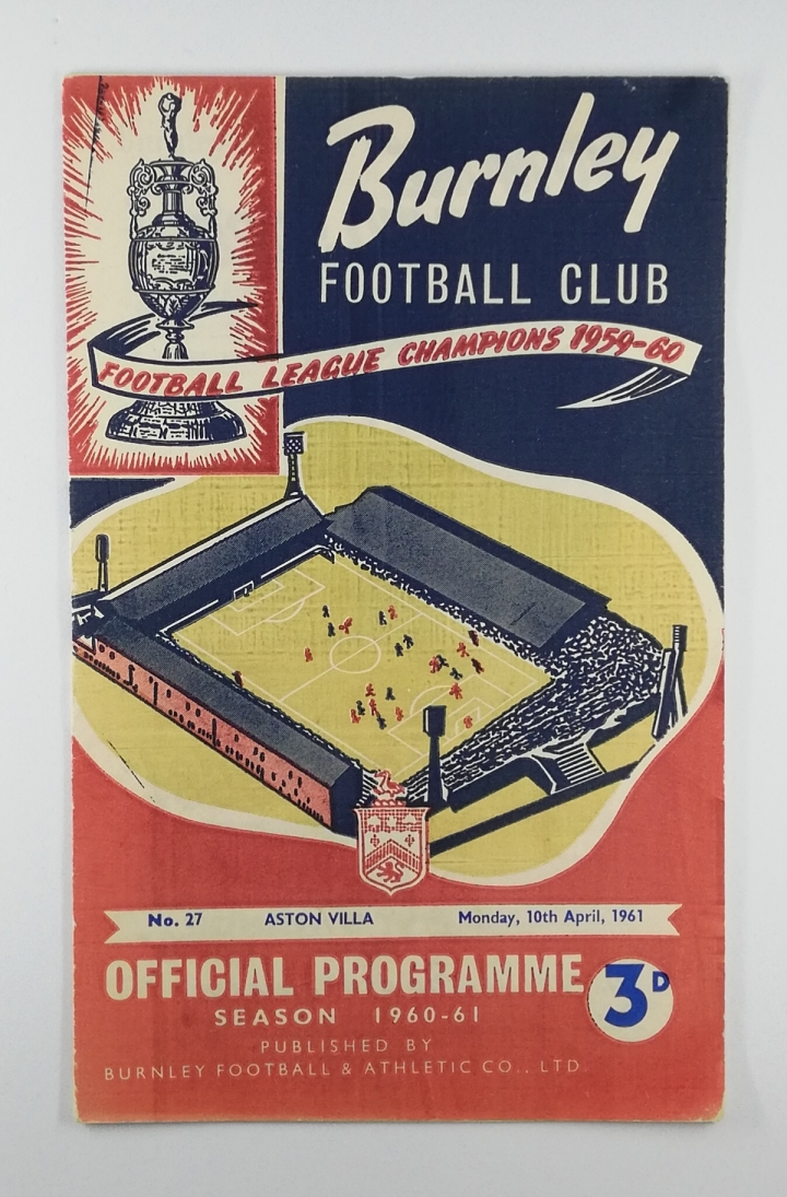 1961 League Cup Semi Final 1st Leg Burnley vs Aston Villa