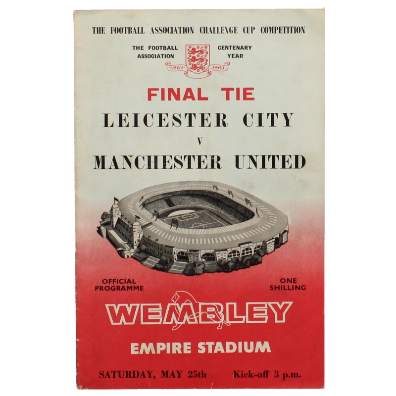 1963 F.A Cup Final Leicester City vs Manchester United programme