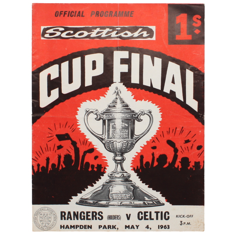 1963 Scottish Cup Final Rangers vs Celtic programme