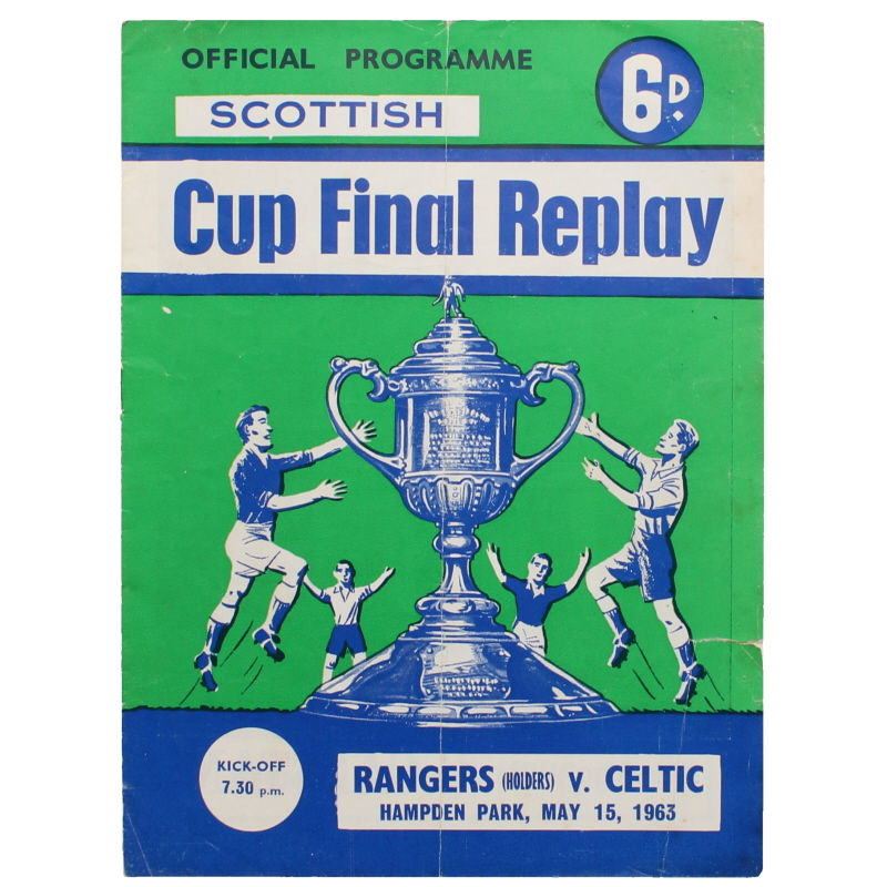 1963 Scottish Cup Final Replay Rangers vs Celtic programme