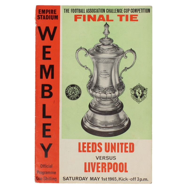 1965 F.A Cup Final Leeds United vs Liverpool programme