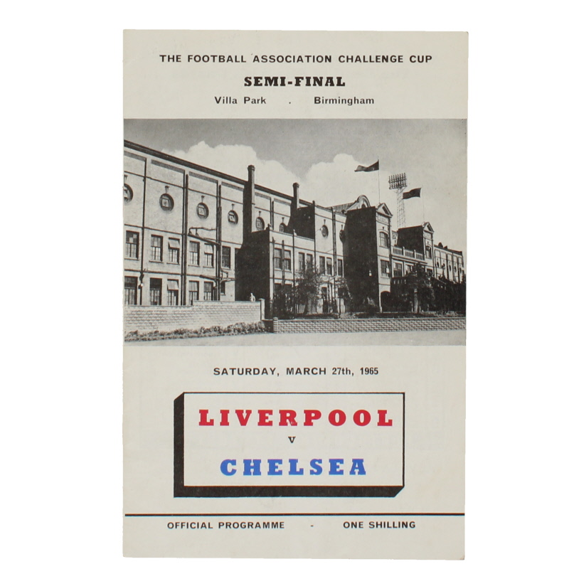 1965 F.A Cup Semi Final Liverpool vs Chelsea programme football programme