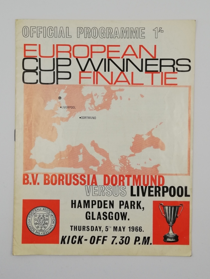 1966 European Cup Winners Cup Final 'Borussia Dortmund vs Liverpool' Programme football programme