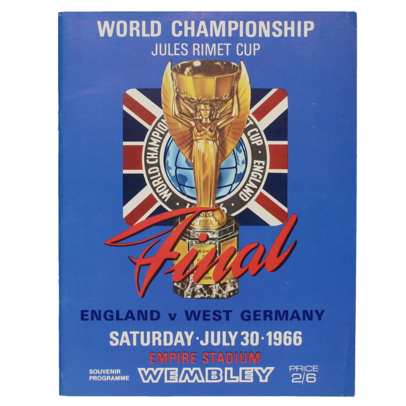1966 World Cup Final England vs West Germany Programme