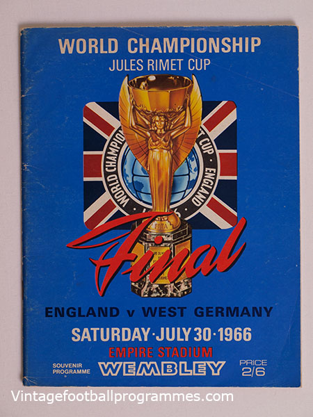 1966 World Cup Final 'England vs West Germany' Programme football programme