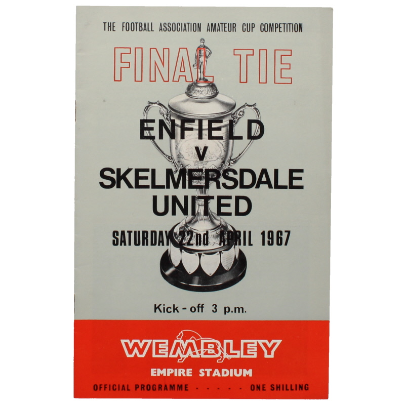 1967 Amateur Cup Final Enfield vs Skelmersdale United programme football programme