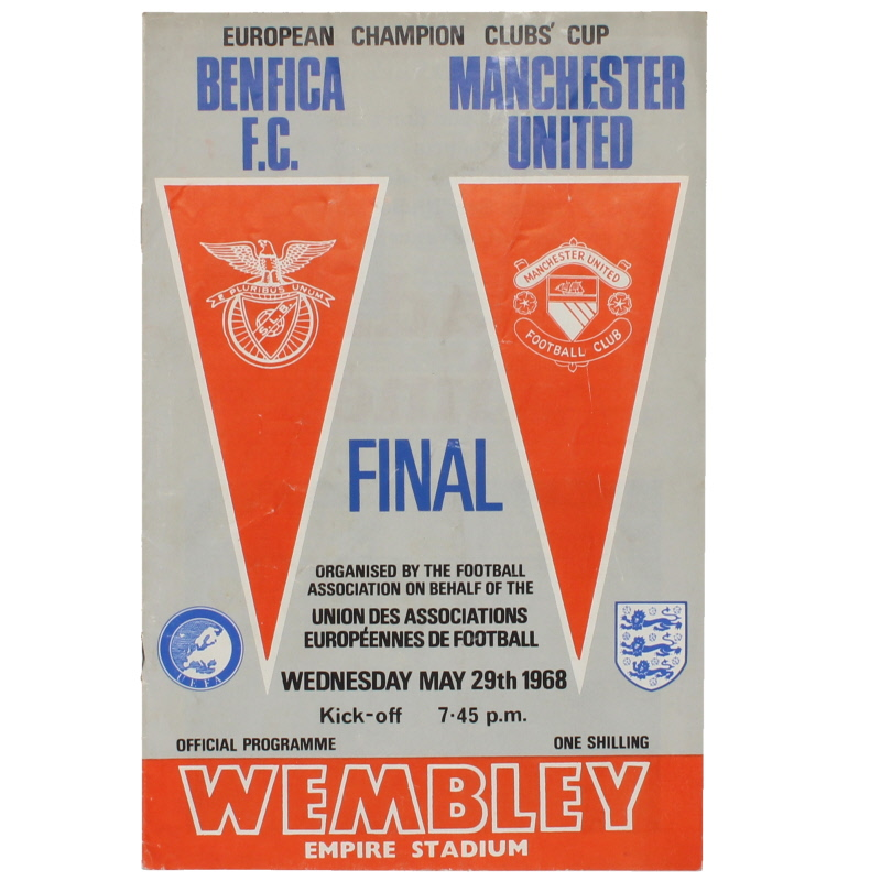1968 European Cup Final Benfica vs Manchester United programme football programme