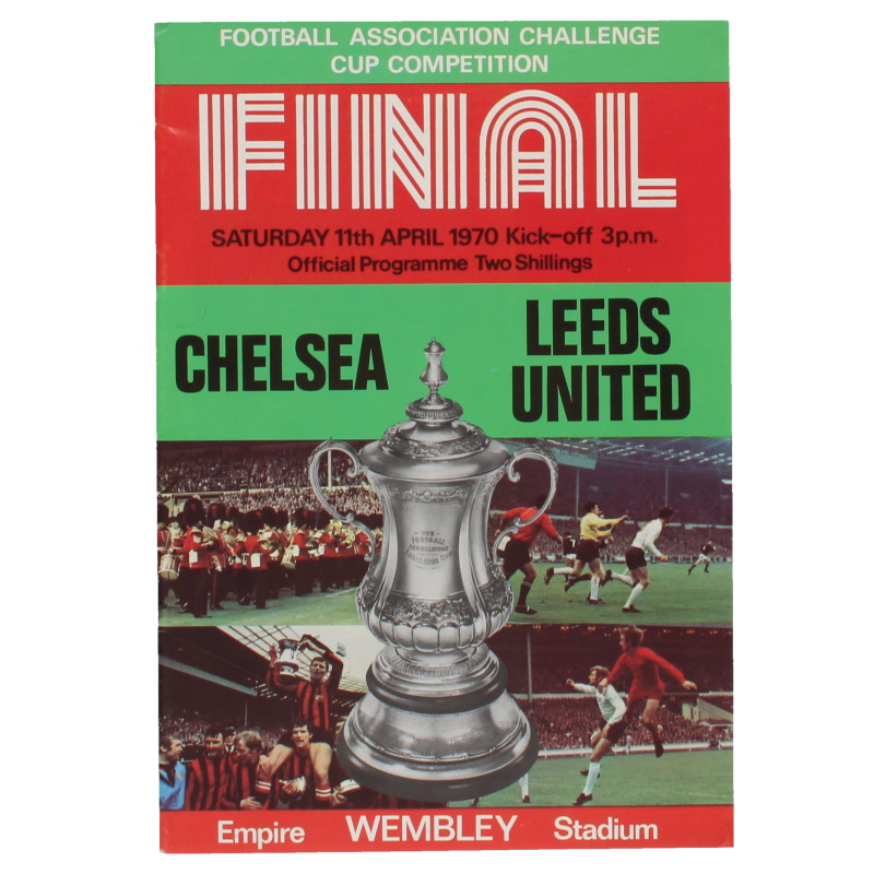 1970 F.A Cup Final Chelsea vs Leeds United Programme