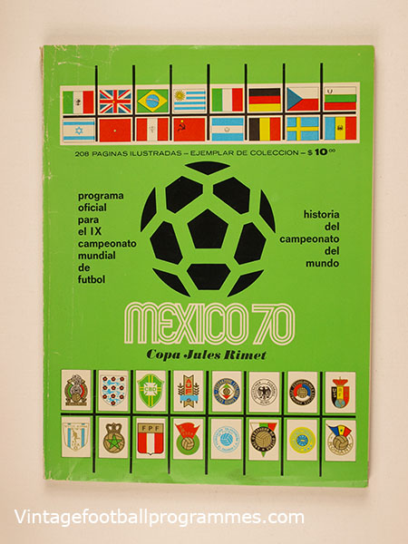 1970 World Cup Tournament Brochure Green Cover *Rare*