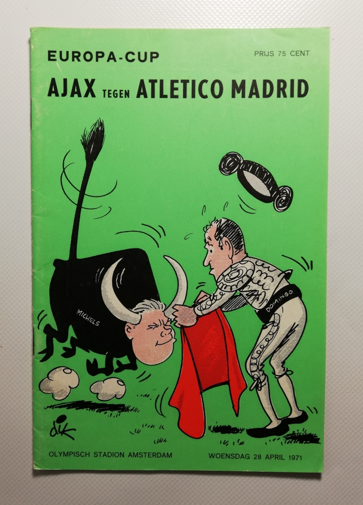 1971 European Cup Semi Final 2nd Leg Ajax vs Atletico Madrid