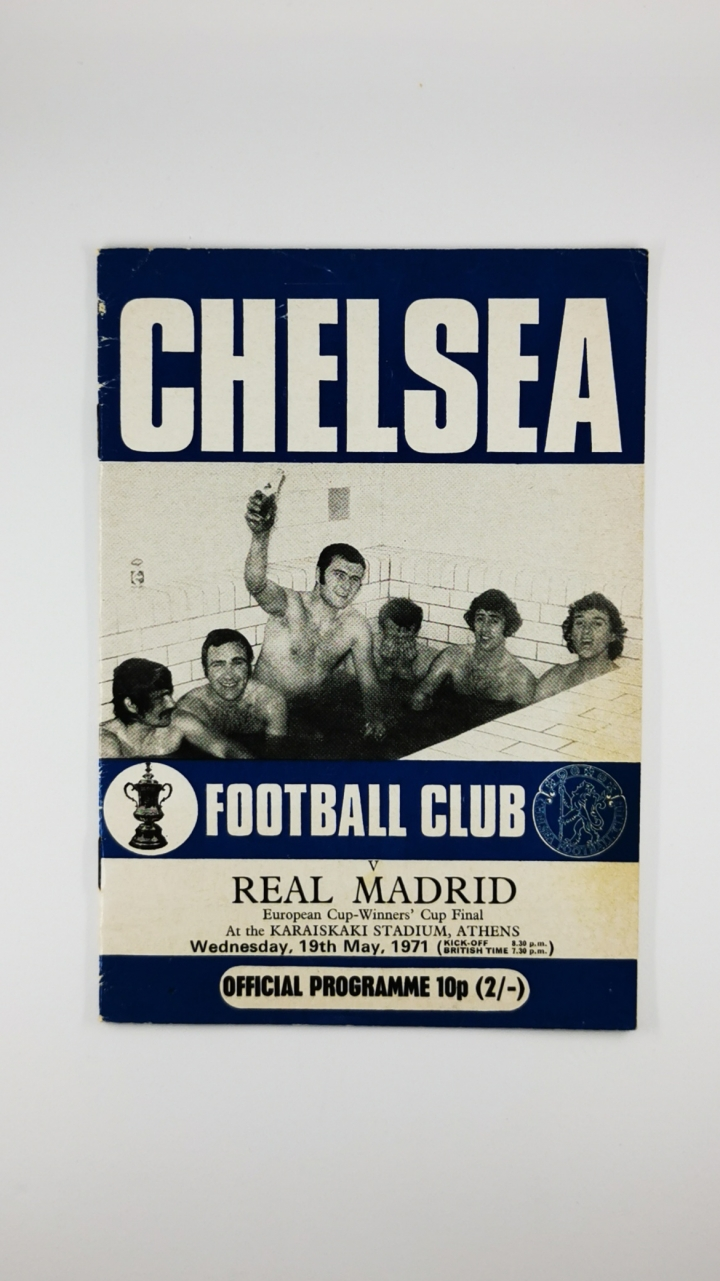 1971 European Cup Winners Cup Final Chelsea vs Real Madrid Programme Chelsea Edition football programme