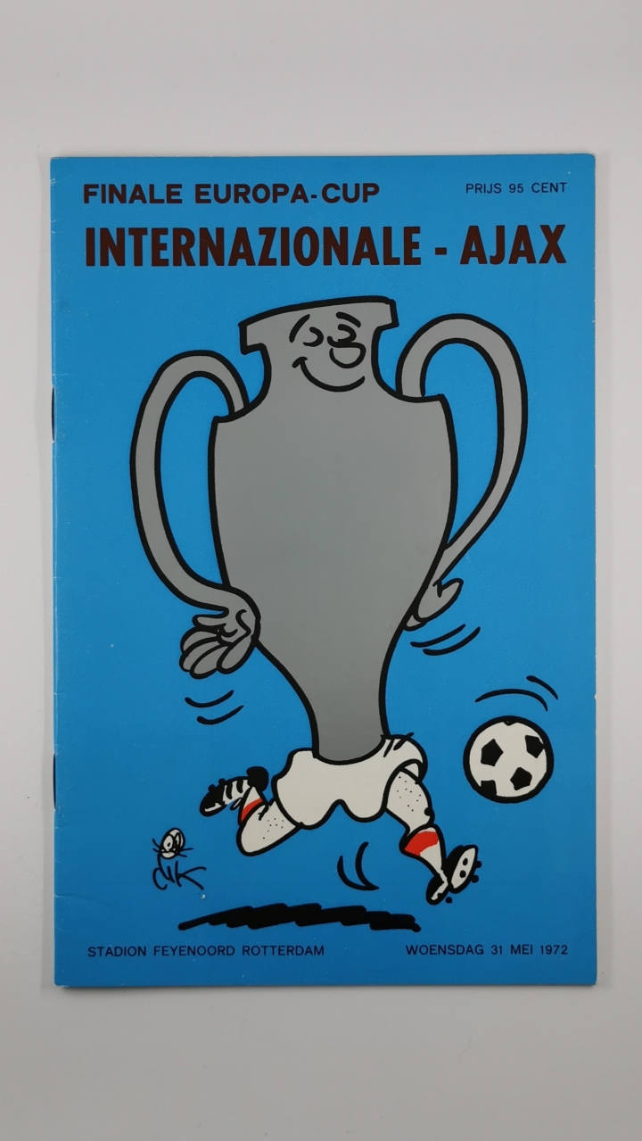 1972 European Cup Final Ajax vs Inter Milan programme football programme