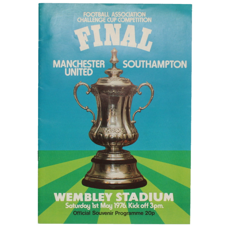 1976 F.A Cup Final Manchester United vs Southampton programme football programme