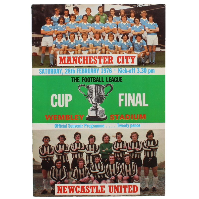 1976 League Cup Final Manchester City vs Newcastle United programme