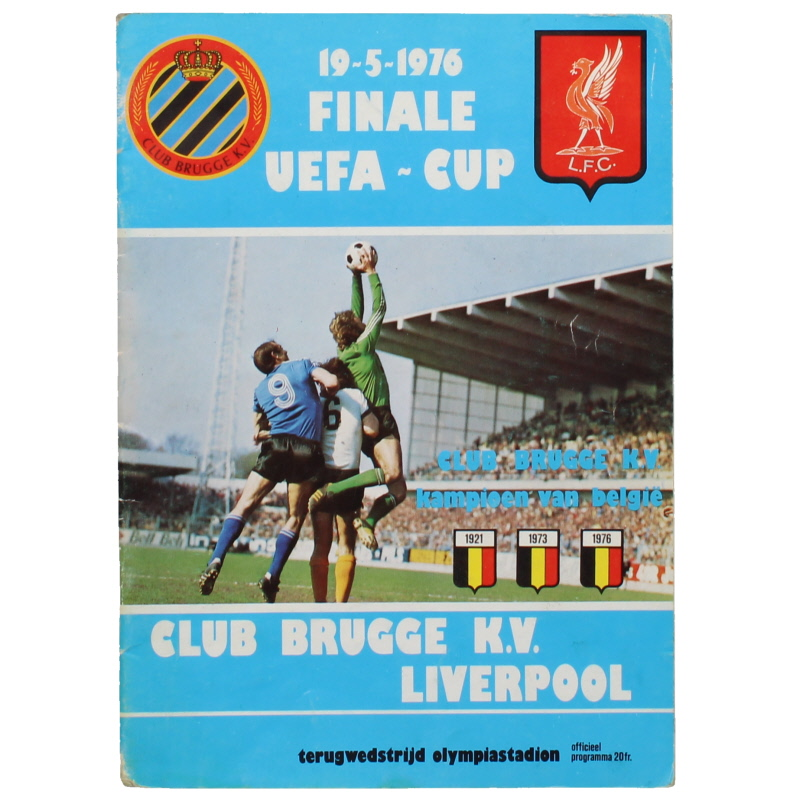 1976 UEFA Cup Final 2nd Leg Club Brugge vs Liverpool