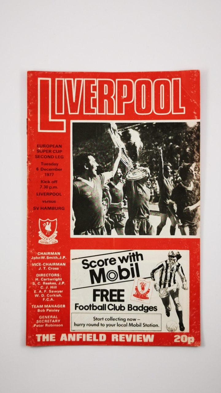 1977 European Super Cup 2nd leg programme