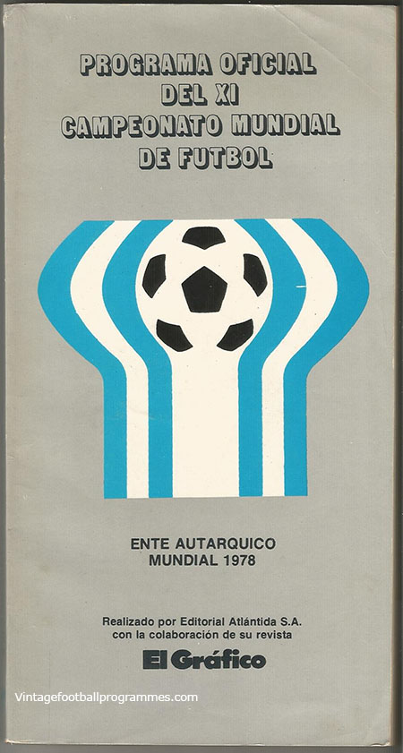 1978 World Cup Official Tournament Brochure football programme