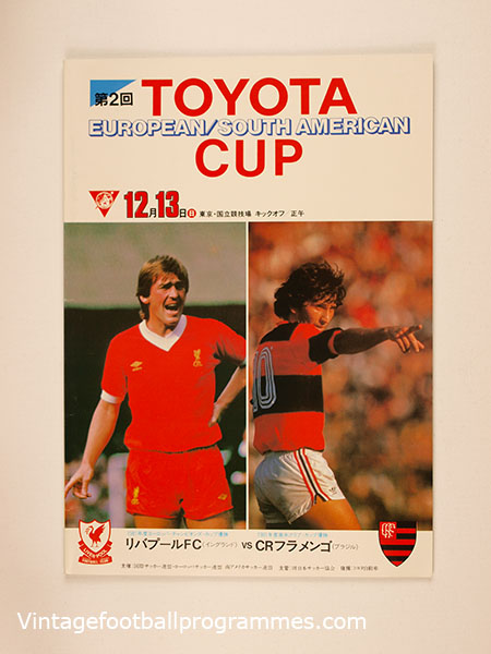 1981 FIFA World Club Champioship (Toyota Cup) 'Liverpool vs Flamengo' Programme
