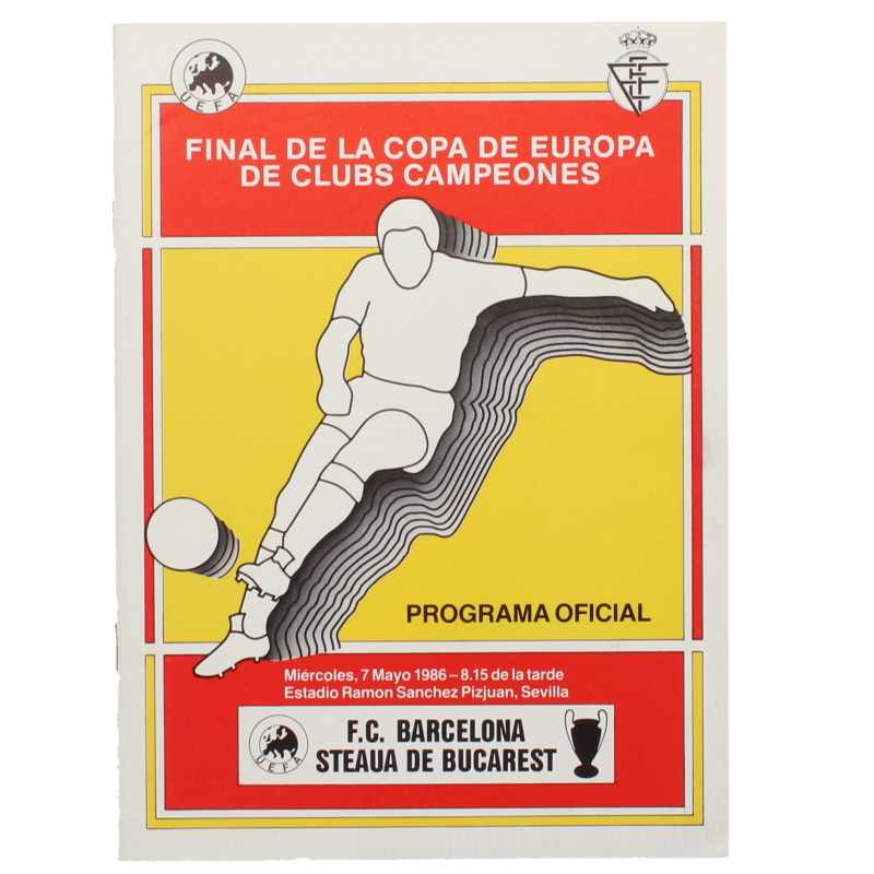 1986 European Cup Final Steaua Bucarest vs Barcelona programme