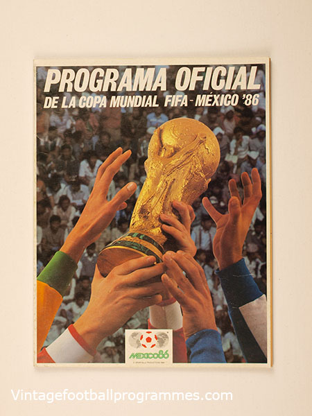 1986 World Cup Official Tournament Brochure football programme