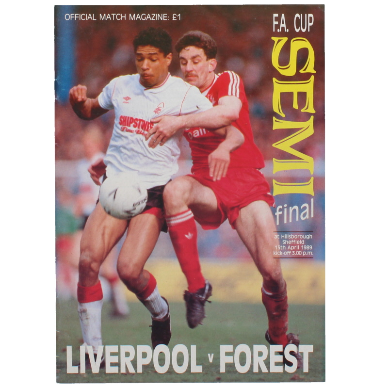 1988-89 F.A Cup Semi Final Liverpool vs Nottingham Forest Hillsborough football programme