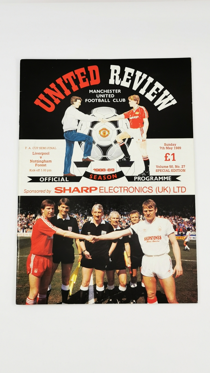 1988-89 F.A Cup Semi Final Liverpool vs Nottingham Forest football programme