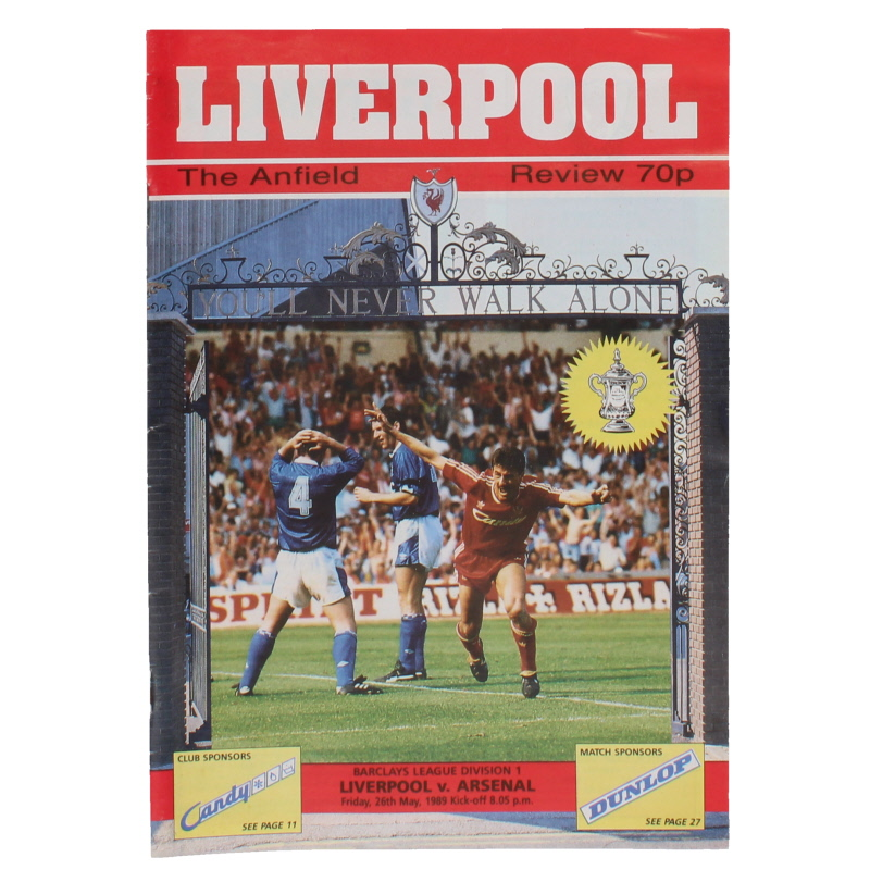 1988-89 Liverpool vs Arsenal Programme Title Decider