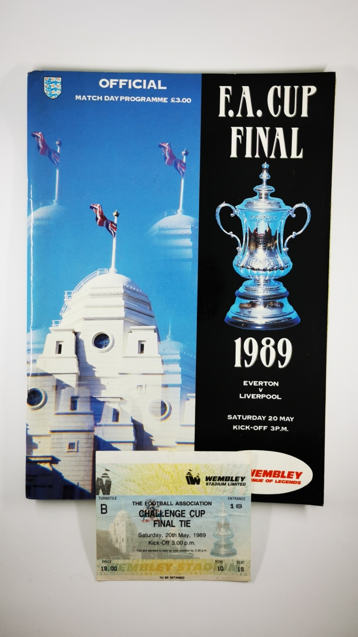 1989 F.A Cup Final Everton vs Liverpool programme and ticket football programme