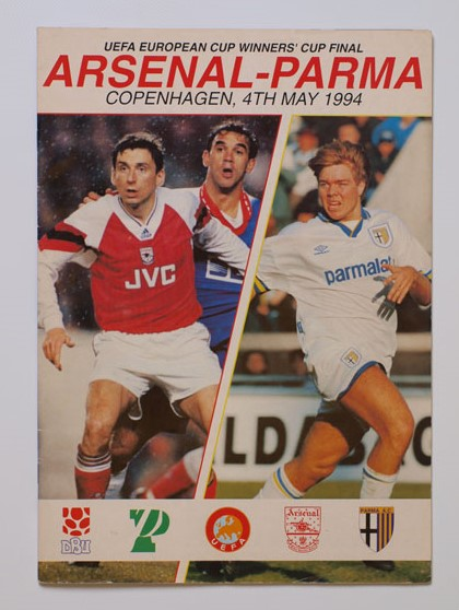 1994 European Cup Winners Cup Final Arsenal vs Parma Programme