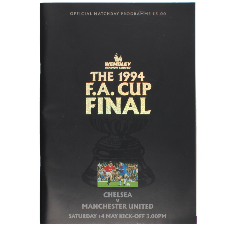1994 F.A Cup Final Chelsea vs Manchester United programme