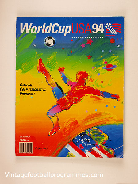 1994 World Cup Commemorative Programme- U.S Edition football programme
