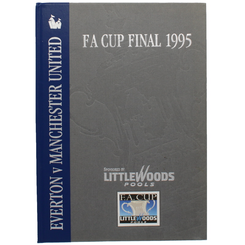 1995 F.A Cup Final Everton vs Manchester United Hardback programme