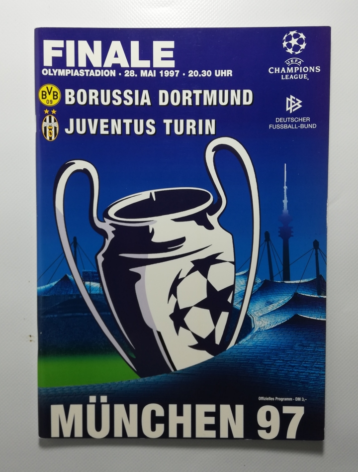 1997 Champions League Final Borussia Dortmund vs Juventus