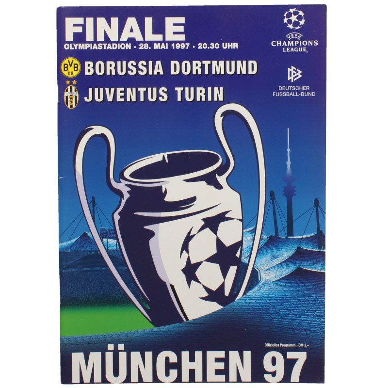1997 Champions League Final Borussia Dortmund vs Juventus programme