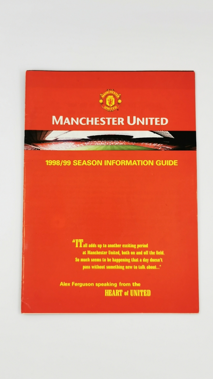 1998-99 Manchester United treble season information guide football programme